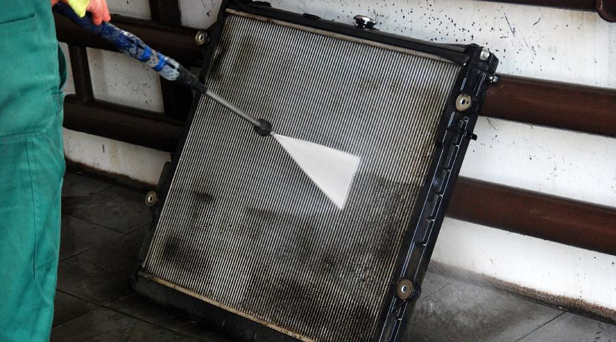 Чистка радиатора автомобиля