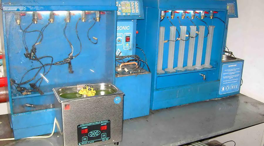 Ультразвуковая промывка форсунок на стенде